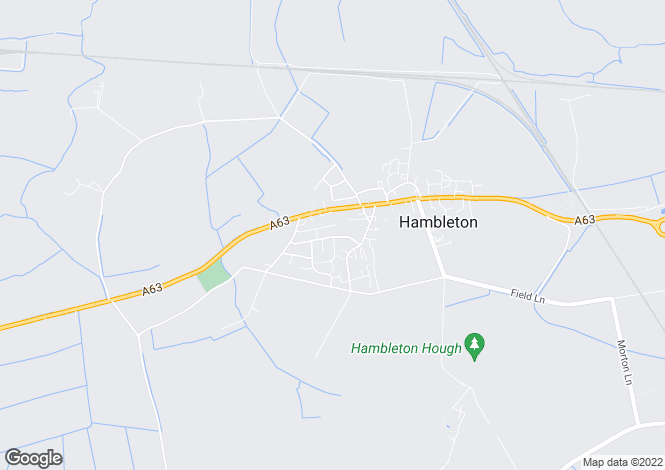 Map for Garth Lane, Hambleton, Selby