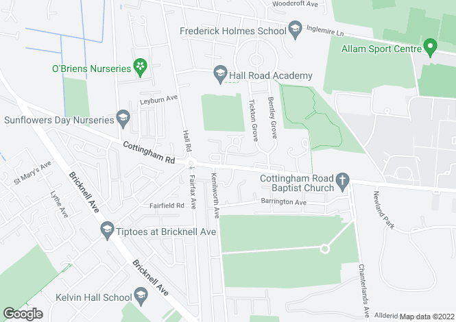 Map for 412 Cottingham Road, Hull, HU6 8QE