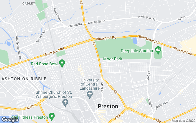 Map for SHP VALUERS, Preston