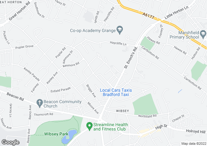 Map for Beechwood Drive, Wibsey, Bradford, West Yorkshire