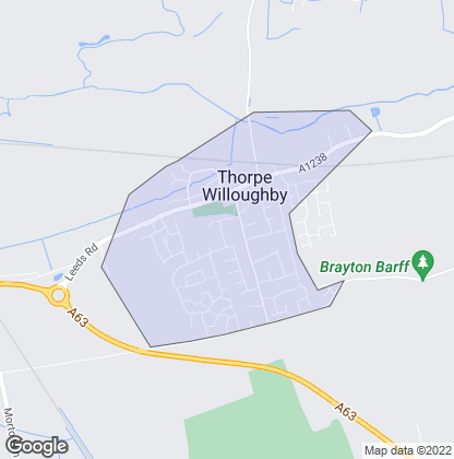 Map of property in Thorpe Willoughby