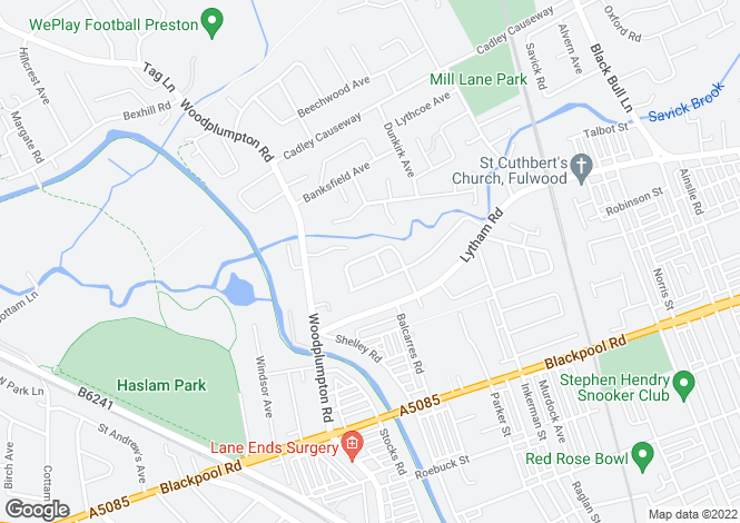 Map for Pathways, Ansdell Grove, Ashton-On-Ribble, Preston, Lancashire, PR2 2EX