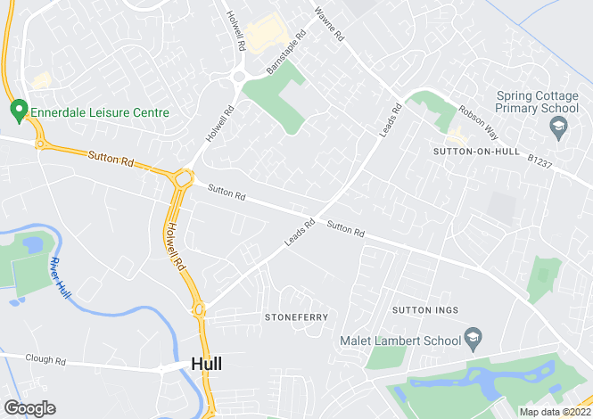 Map for Sutton Road, Hull, Kingston Upon Hull, HU7