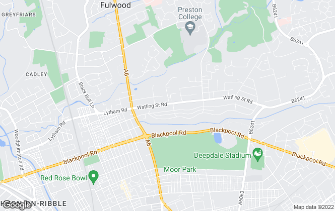 Map for Kingswood , Fulwood