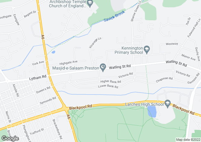 Map for Albert Road,