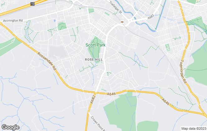 Map for Whiteacres Property, Burnley