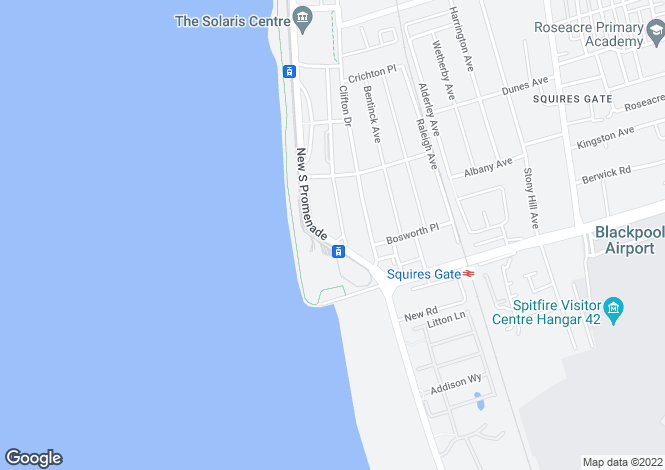 Map for New South Promenade  Blackpool