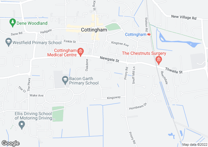 Map for Longmans Lane, Cottingham, East Yorkshire, HU16