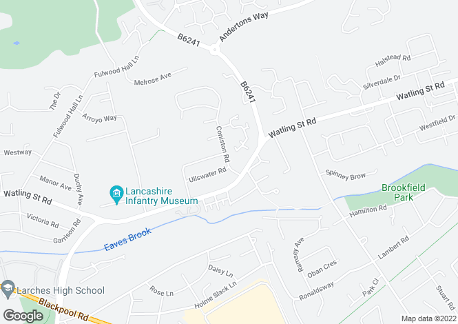 Map for Coniston Road, Fulwood, Preston, PR2 8AU