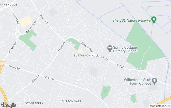 Map for Reeds Rains , Sutton upon Hull