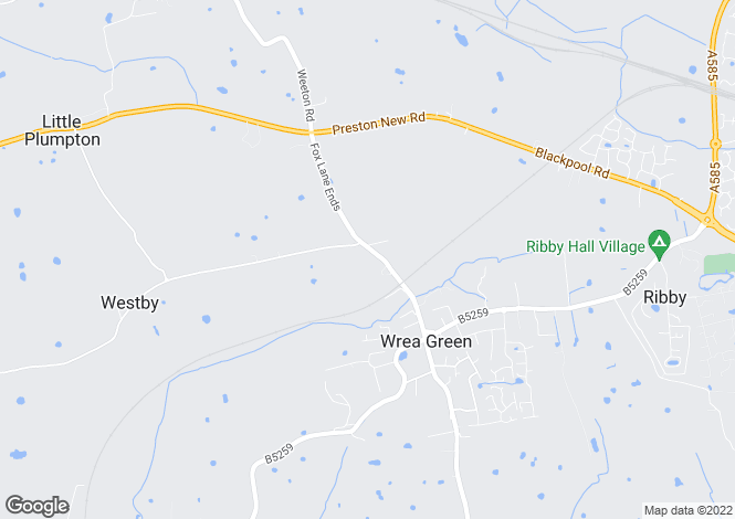 Map for Fox Lane Ends, Wrea Green, Wrea Green, Lancashire, PR4