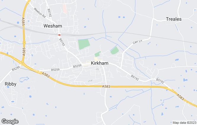 Map for Richard Wilson, Kirkham