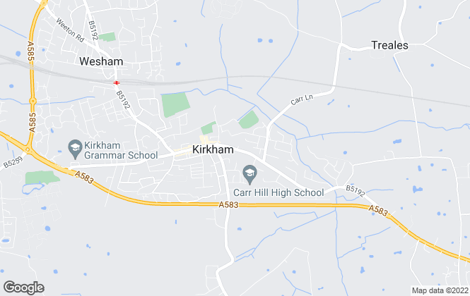 Map for Reeds Rains Lettings, Kirkham