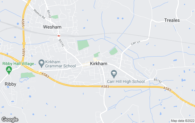 Map for mi home estate agents, Kirkham