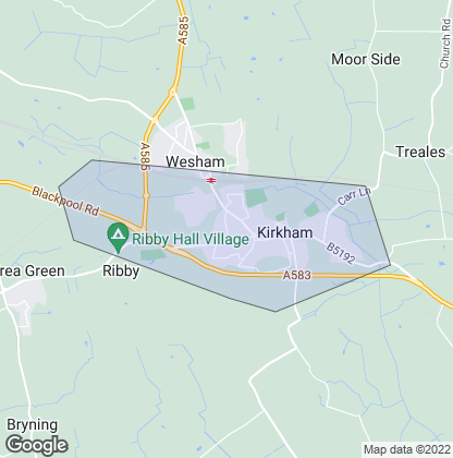Map of property in Kirkham