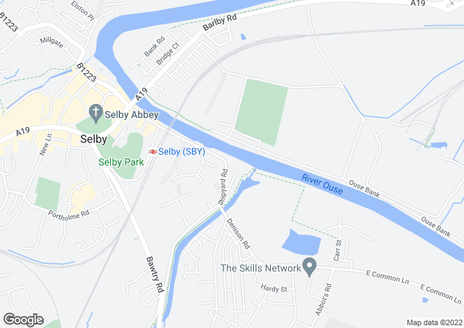 Map for The Waterfront                      Selby