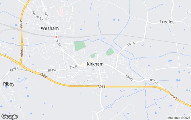 Map for Leftmove Estate Agents, Kirkham & Freckleton Branch