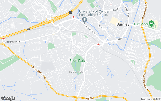 Map for E & M Property Solutions, Burnley