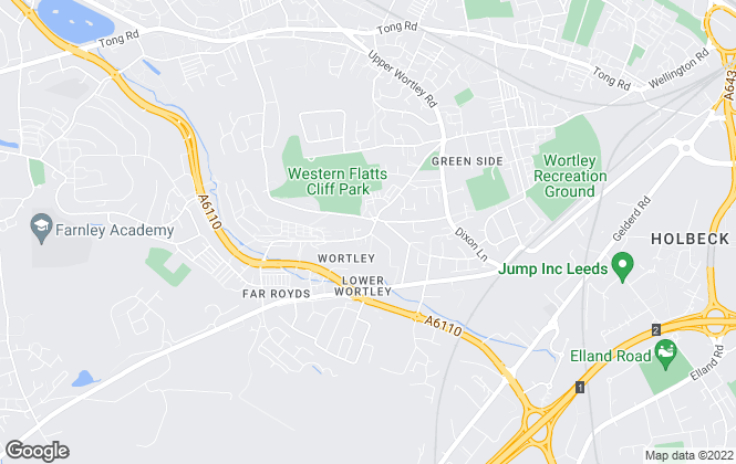 Map for Manning Stainton, Wortley