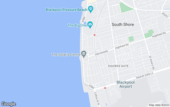 Map for Fabrik Property Management Limited , Blackpool