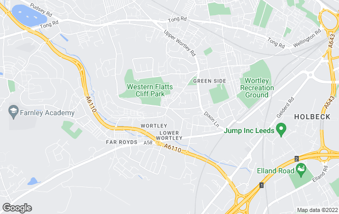 Map for Kath Wells Estate Agents, Wortley