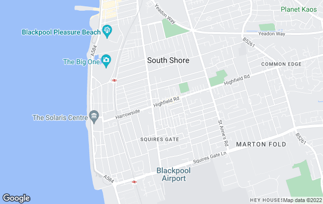Map for Christie King Estate Agents, Blackpool