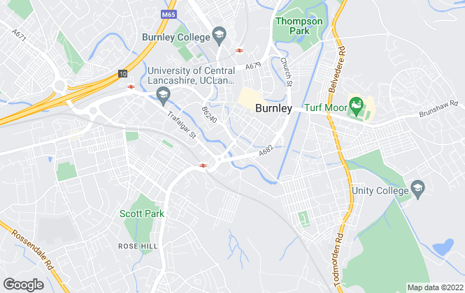 Map for Independent Mortgage Company, Burnley