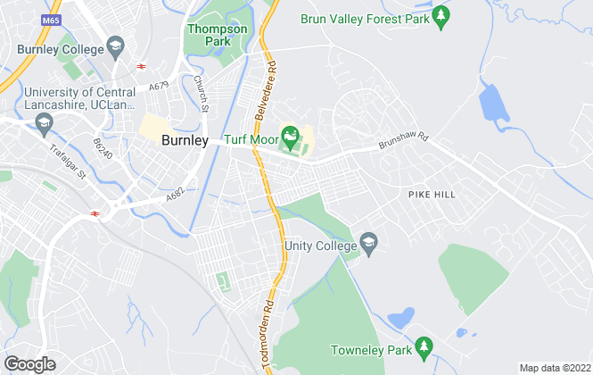 Map for Aspire Group, Burnley