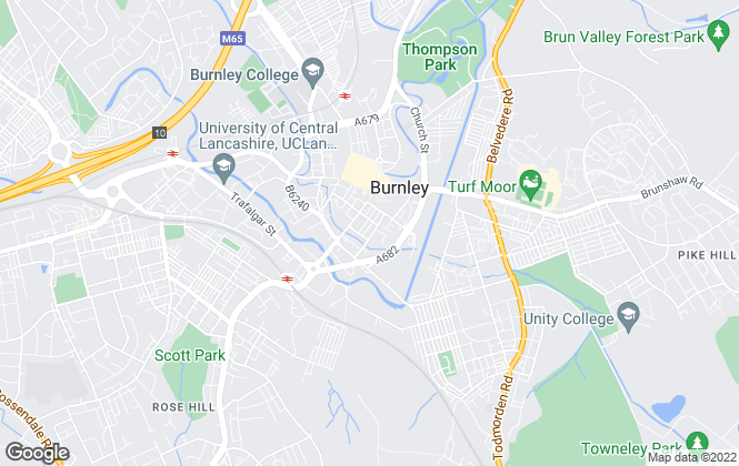 Map for JonSimon Estate Agents, Burnley