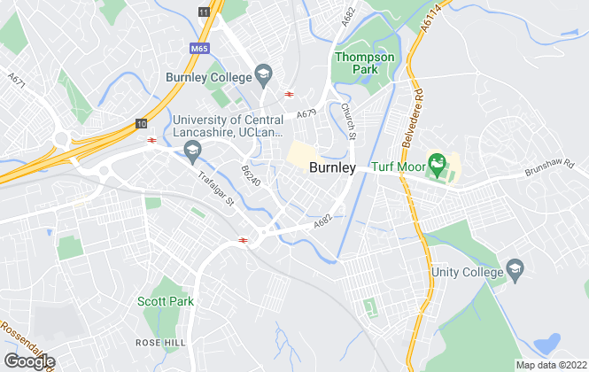 Map for Falcon & Foxglove Estate Agents Ltd, Burnley