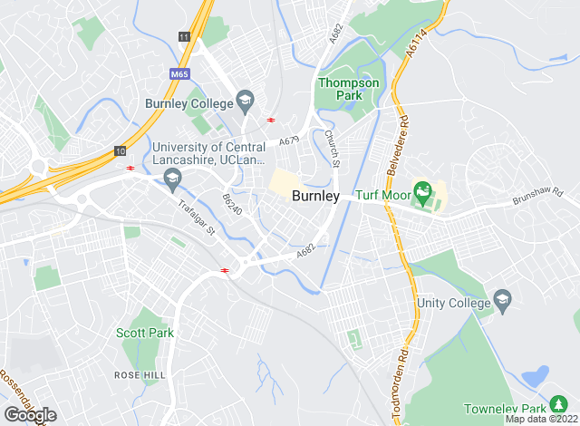 Map for Petty Estate Agents Ltd, Burnley