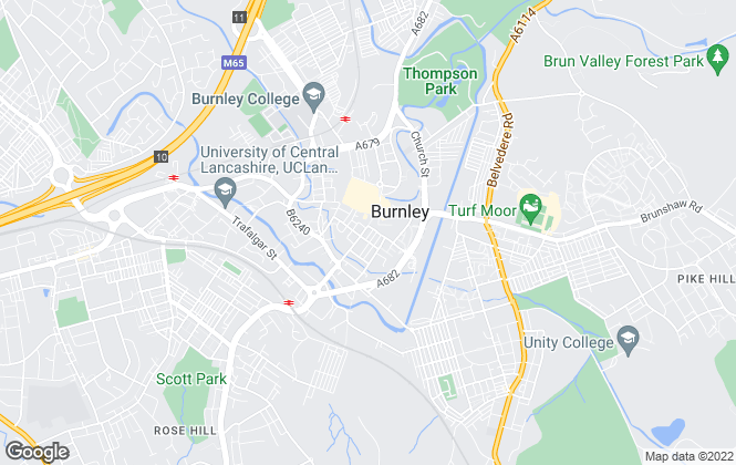 Map for Entwistle Green, Burnley