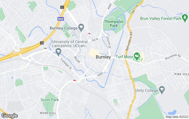 Map for Rent-Smart, Burnley