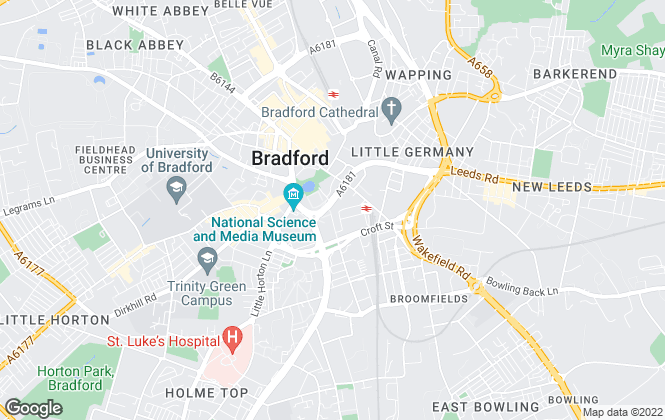 Map for The Lettings Room Ltd , Bradford - Lettings