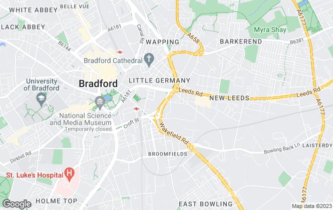 Map for Smart Moves, Bradford