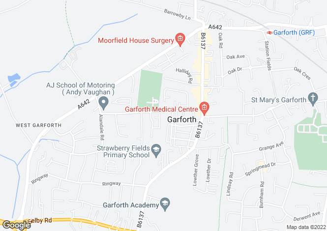 Map for Barley Hill Road, Garforth, Leeds LS25