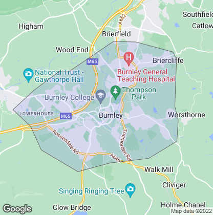 Map of property in Burnley