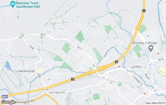 Map for Belvoir, Burnley