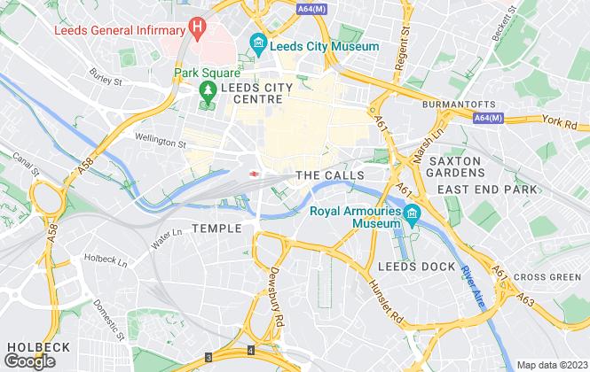 Map for Parklane, Leeds City Office