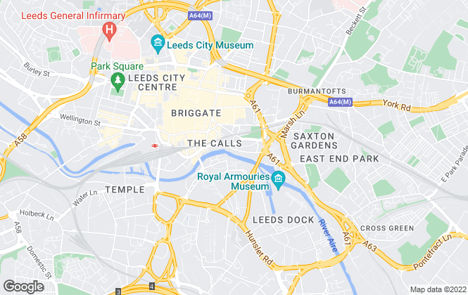 Map for UK City Residential , Leeds