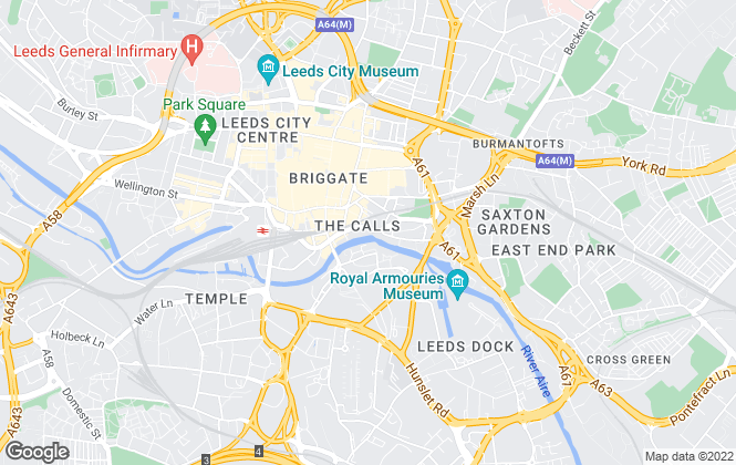 Map for Flats In Leeds Ltd, Leeds - Sales