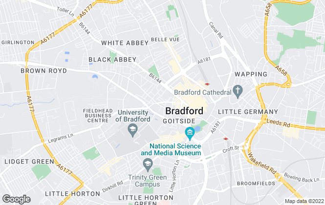 Map for YOUR MOVE Roebuck Residential Ltd, Bradford