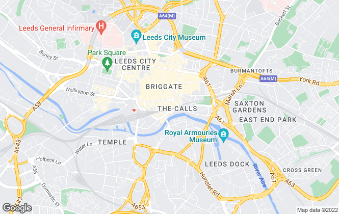 Map for City Home, Leeds