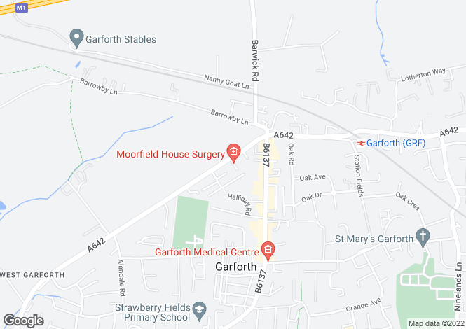 Map for Wakefield Road, Garforth