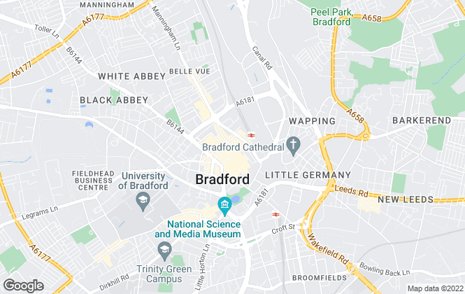 Map for Whitegates, Bradford