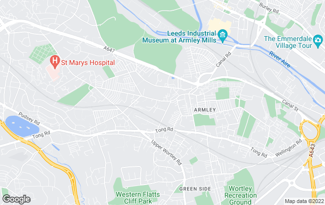 Map for Brooklands Robinson, Armley