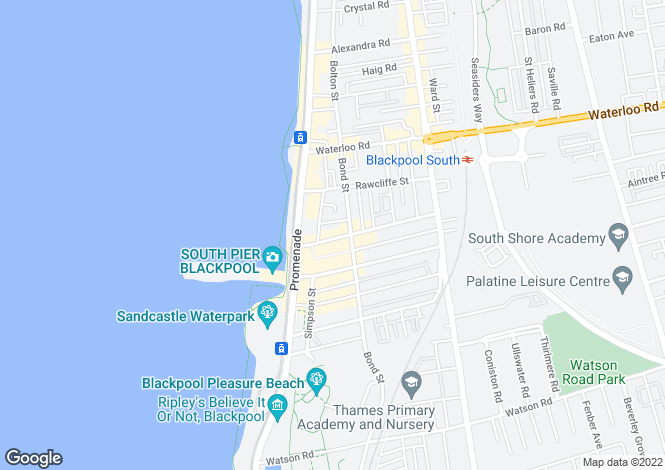 Map for Wingate Hotel, 8 Dean Street, Blackpool, Lancashire, FY4 1AU