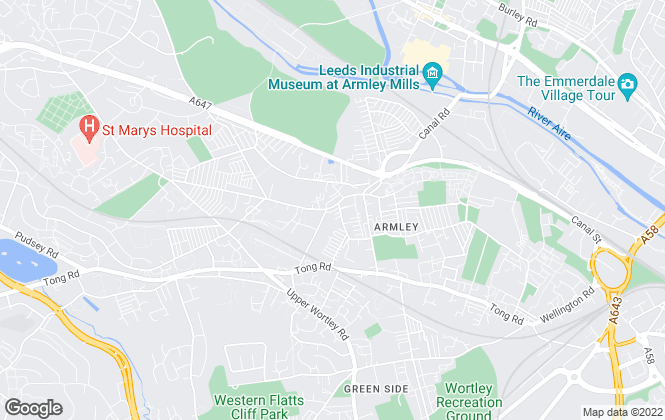 Map for Milnes Walker Ltd, Armley