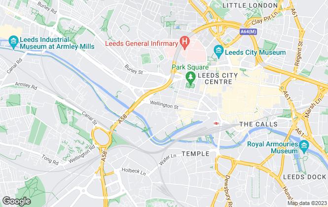 Map for BARKER PROUDLOVE LIMITED, Leeds