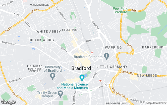 Map for Let my property, Bradford